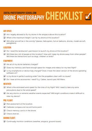 Drone Photography Checklist