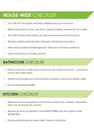 House Photography Checklist