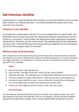 Job Interview Checklist2
