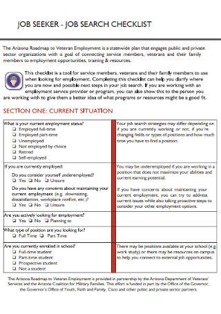 Job Seeker Checklist Template
