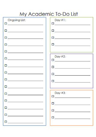 My Academic To Do List