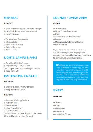 Property Photography Checklist