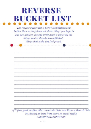 Reverse Bucket List Template