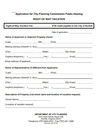 Vacation Checklist Application Template