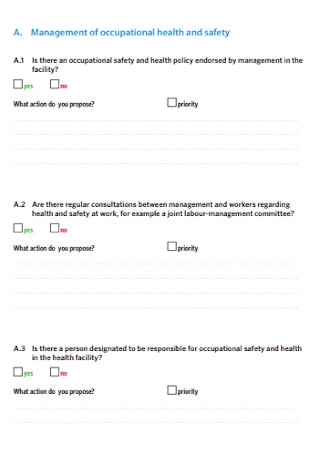 Workers Health Checklist Template