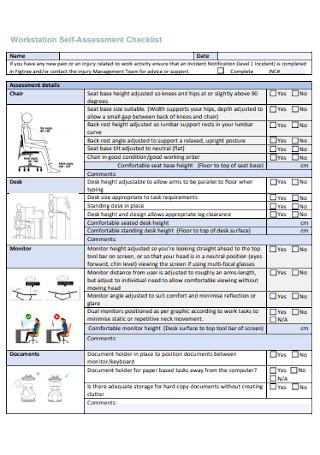 Workstation Self Assessment Checklist