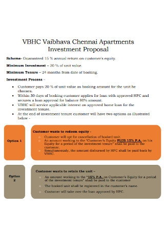 Apartments Investment Proposal Template