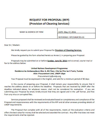Basic Cleaning Proposal Template