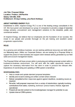 Basic Job Proposal Template
