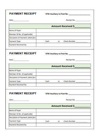 Basic Payment Receipt Template