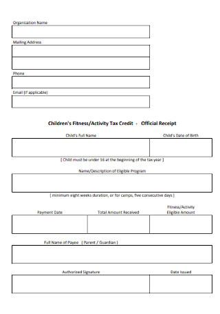 Basic Tax Official Receipt