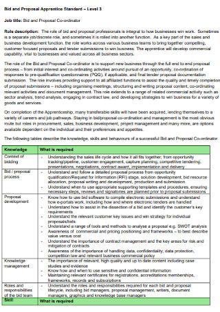 Bid and Proposal Apprentice Template