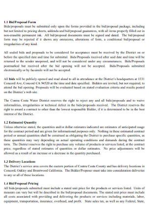 Bid and Proposal Form1