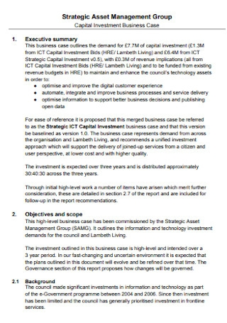 Capital Investment Proposal Template