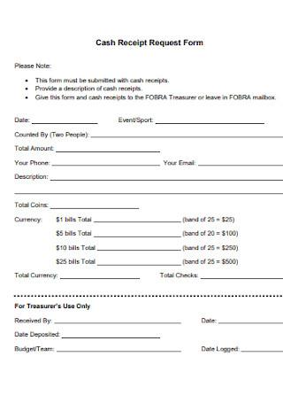 Cash Receipt Request Form