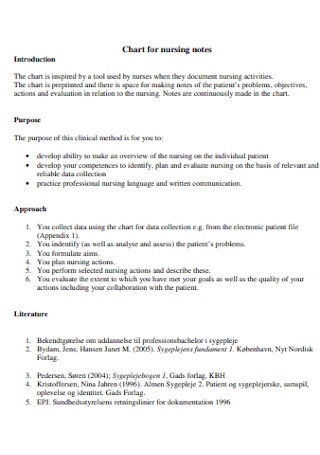 Charts for Nursing Note Template