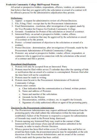 College Bid Proposal Template