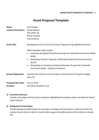 College Grant Proposal Template