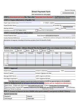 Direct Payment Form