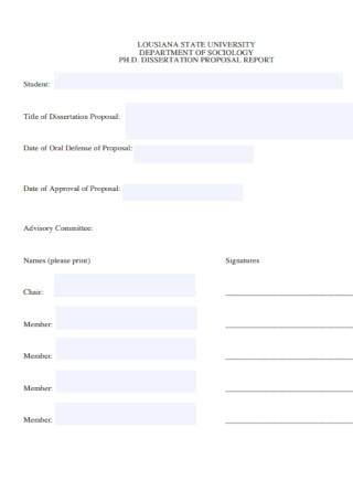 Dissertation Proposal Report