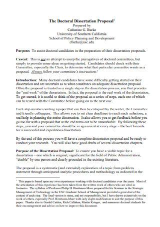 Doctoral Dissertation Proposal