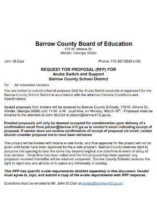 Education Bid Proposal Template