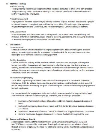 Employee Training Proposal Template