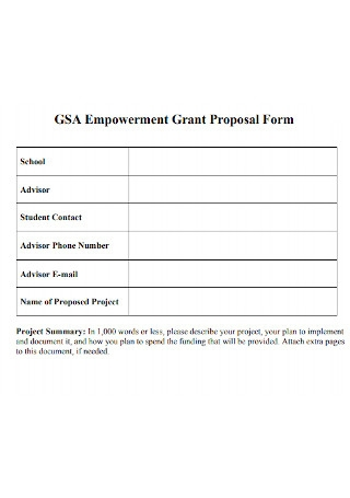 Empowerment Grant Proposal Form