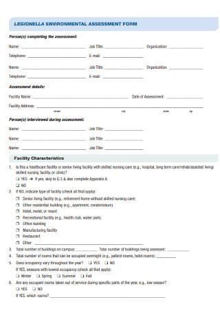 Environmental Assessment Form