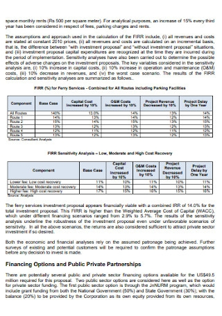 Final Report Investment Proposal