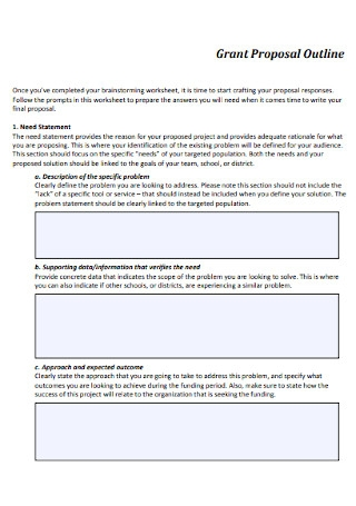 Grant Proposal Outline Template