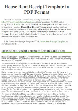 House Rent Receipt Format