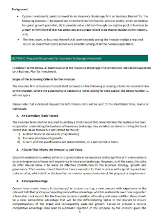 Insurance Investment Proposal Template
