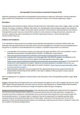 Interoperable Communications Investment Proposal