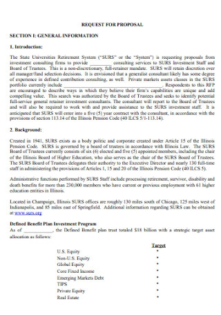 Investment Consultant Proposal Template