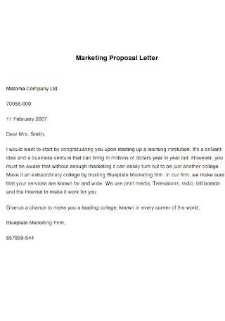 Marketing Proposal Letter