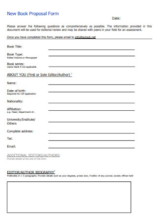 New Book Proposal Form