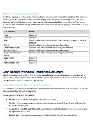 Office Cash Receipt Template