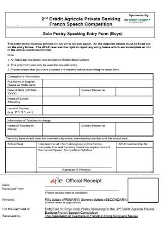 Official Banking Receipt Template