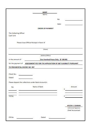 Official Payment Receipt