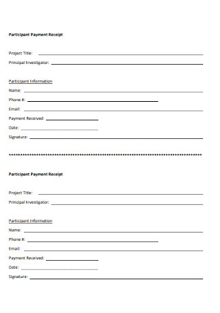 Participant Payment Receipt