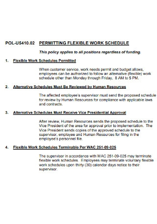 Permitting Flexible Work Shedule