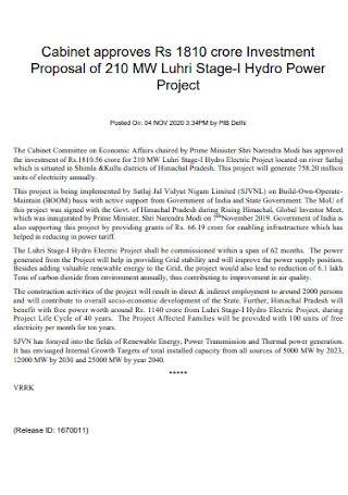 Power Project Investment Proposal