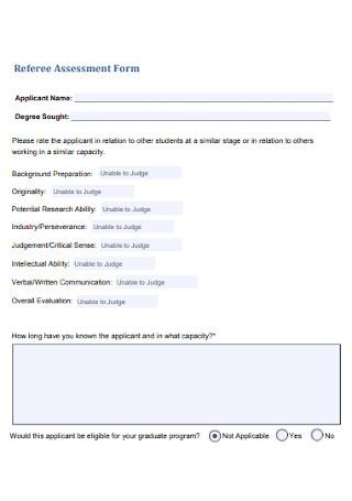Referee Assessment Form