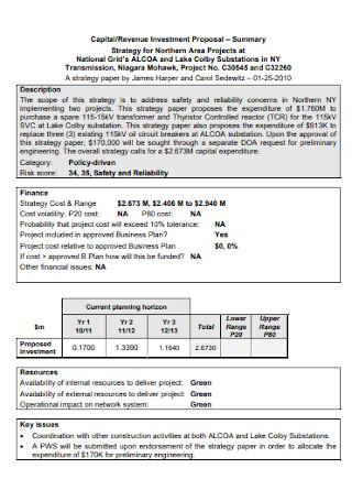 Revenue Investment Proposal