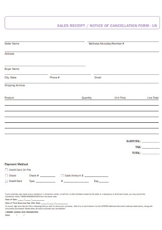 Sales Receipt and Form