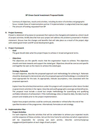 Social Investment Proposal