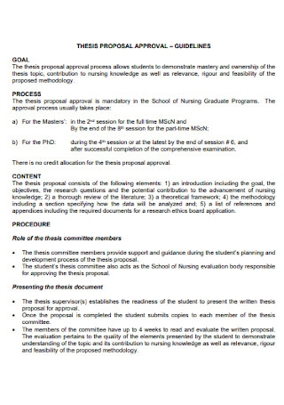 Thesis Proposal Approval Template