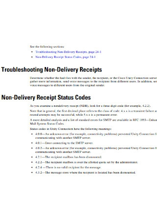 Troubleshooting Non Delivery Receipts