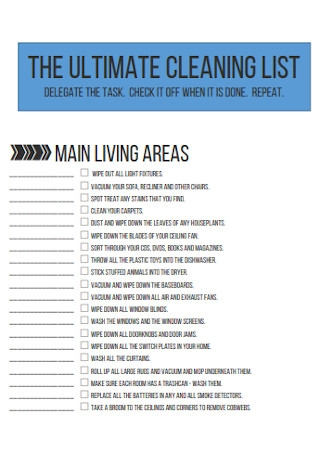 Ultimate Cleaning List Template